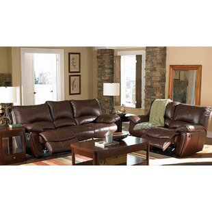 Alicea 2 Piece Leather Reclining Living R..