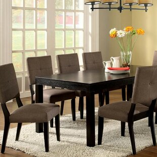 Serenity Contemporary Solid Wood Dining Table Winston Porter
