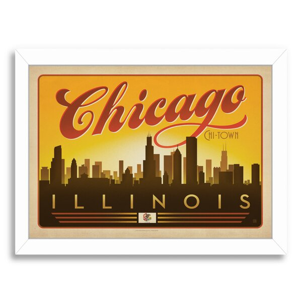 Chicago Skyline Framed | Wayfair