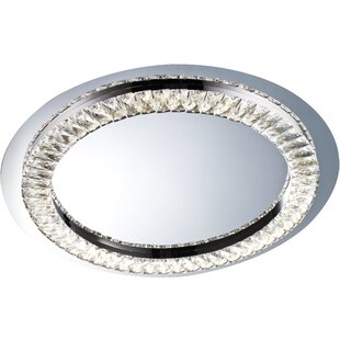 Orren Ellis Sowa 1-Light LED Flush Mount