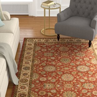 Crownover Wool Rust Area Rug byDarby Home Co