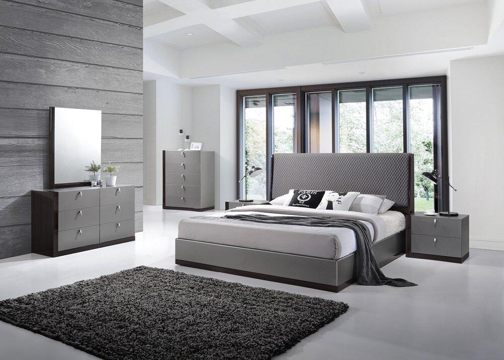 Wade Logan Carmichaels Upholstered Platform Configurable Bedroom Set ...