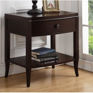 Tuscola 1 Drawer Nightstand by Alcott Hill