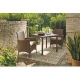 Tristin 3 Piece Bistro Set with Cushions