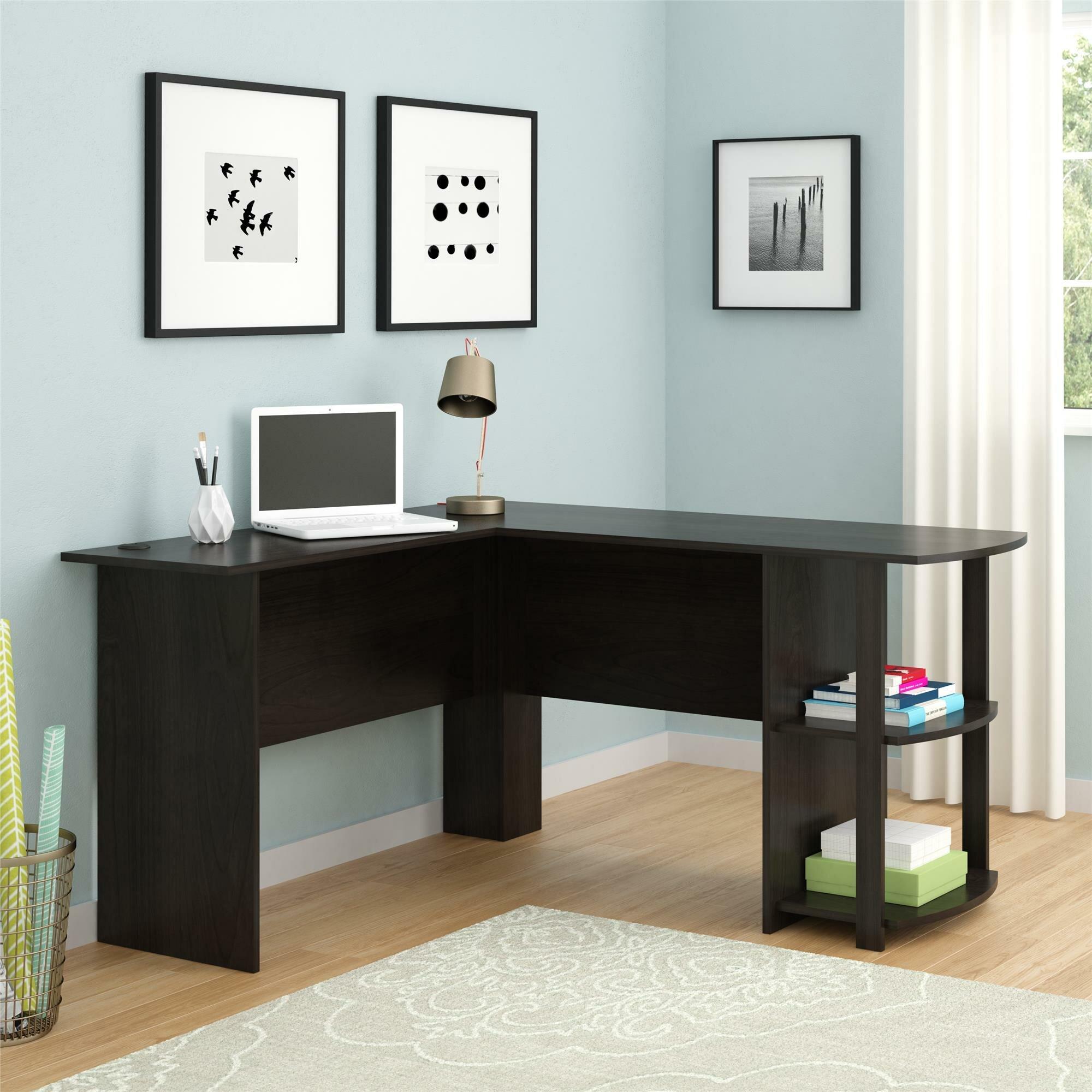 andover mills salina l shape corner desk reviews wayfair rh wayfair com Corner L Desk with Hutch L-shaped Corner Desk