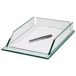 Rebrilliant Desiree Executive Letter Tray Glass (Set of 16)