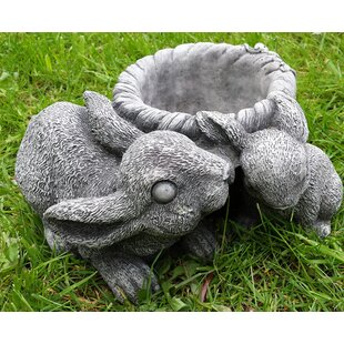 Luke Bunny Stone Garden Statue Planter By Happy Larry
