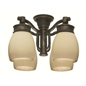 Outdoor 4-Light Branched Ceiling Fan Light Kit
