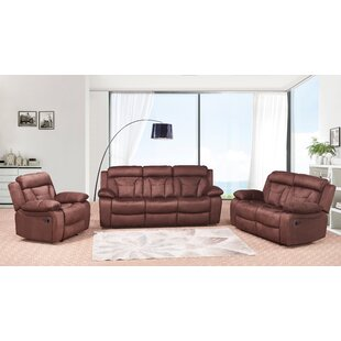 Red Barrel Studio Dougan Reclining 3 Piece Living Room Set