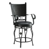 Glassell Swivel Bar Stool by Fleur De Lis Living