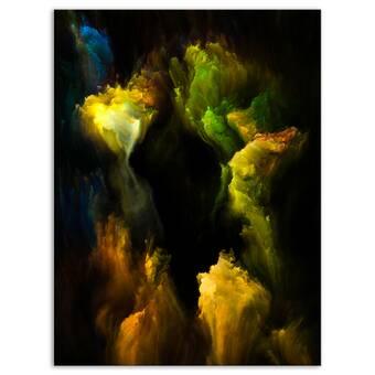 Designart Yellow Stone Pool Panorama Photographic Print On Wrapped Canvas Wayfair