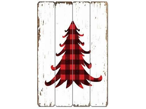 plaid christmas decor wayfairplaid christmas stocking millwood pines buffalo plaid xmas tree wooden sign wall dcor wayfair