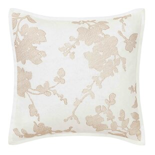 Lorene Crewel Embroidered Throw Pillow