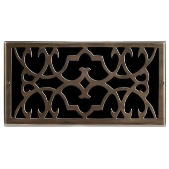 Brass Elegans 4 X 10 Solid Cast Brass Floor Register Trim In Antique Brass Wayfair