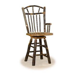Esita 24 Swivel Wagon Bar Stool Wheel With Arms Millwood Pines