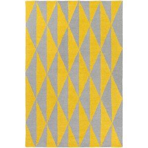 Hilda Sonja Hand Crafted Yellow/Gray Area Rug
