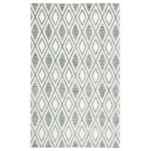 White Trellis Blue/Ivory Indoor/Outdoor Area Rug