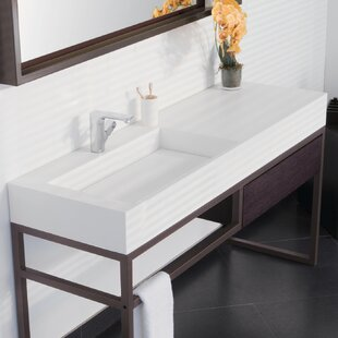 Best Price Marco Ceramic Rectangular Trough Bathroom Sink By Ronbow