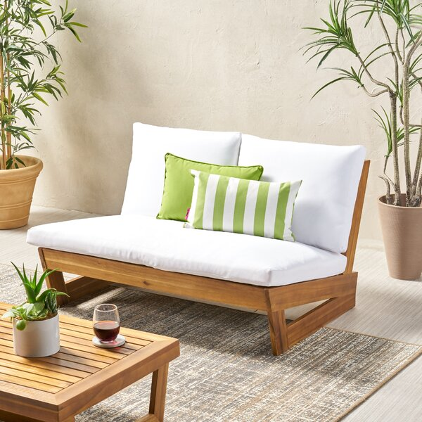 Awesome Outdoor Loveseat And Ottoman Wayfair Evergreenethics Interior Chair Design Evergreenethicsorg
