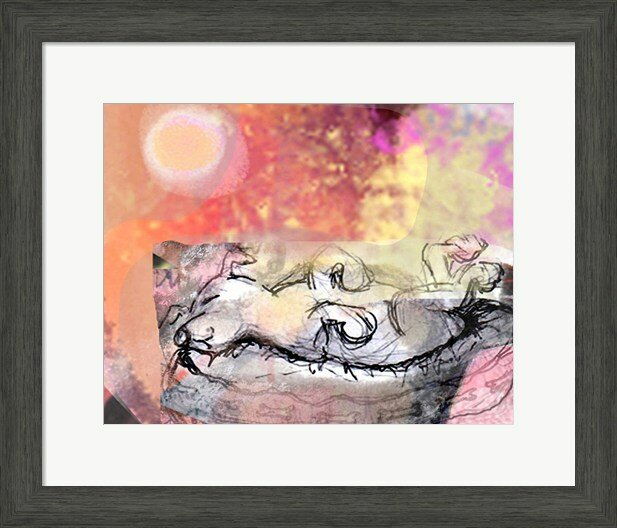 Evive Designs Sleeping Dog By Holly Mcgee Framed Graphic Art Wayfair