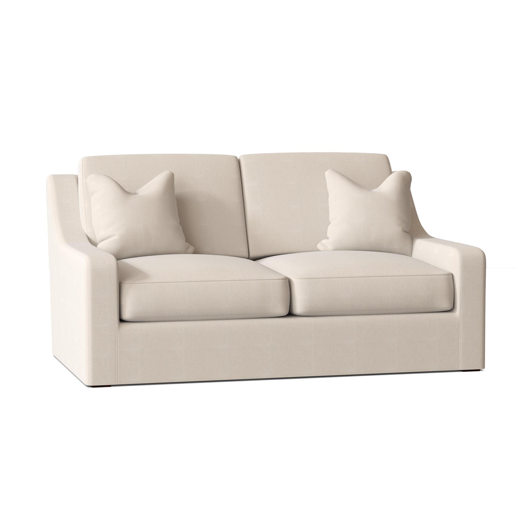 Wayfair Custom Upholstery Maggie 68 Square Arm Loveseat Reviews Wayfair