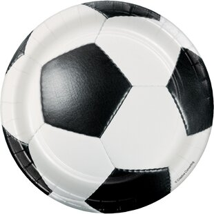 Soccer Paper Appetizer Plate (Set of 24)