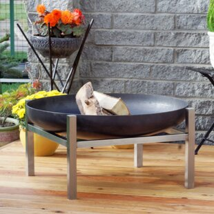 Ralon Stainless Steel Charcoal/Wood Burning Fire Pit Image
