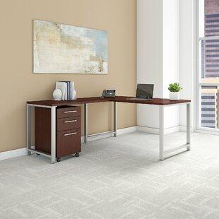 Bush Business Furniture 400 Series 3 Piece L-shaped Desk Office Suite