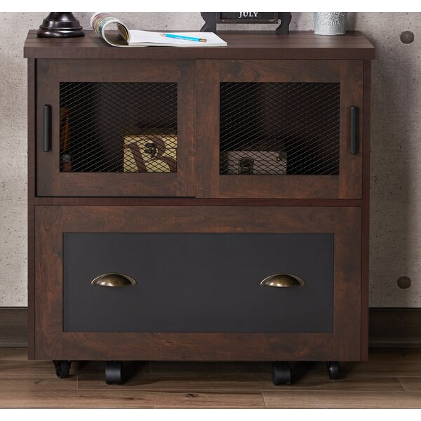 17 Stories Zenya Industrial 1 Drawer Lateral Filing Cabinet U0026 Reviews |  Wayfair