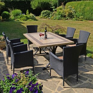 Shayna 6 Seater Dining Set With Cushion By Sol 72 Outdoor
