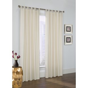 Calandre Solid Blackout Thermal Tab Top Curtain Panels