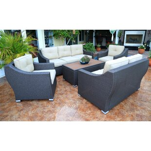 Online Purchase Tampa 5 Piece Sofa Seating Group with Cushions Affordable