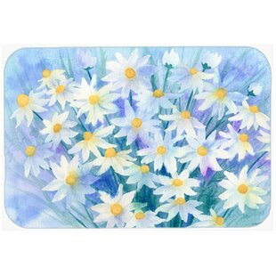 Ordinaire Light And Airy Daisies Kitchen/Bath Mat