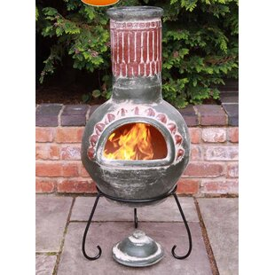 Plumas Clay Wood Burning Chiminea By Gardeco
