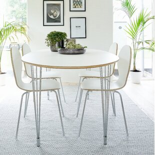 Dining Set With 4 Chairs By Mikado Living