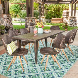 George Oliver Freetown Outdoor 7 Piece Dining Set