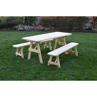 Seward Solid Wood Picnic Table by Loon Peak