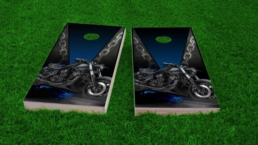 Motorcycle Cornhole Game Set
