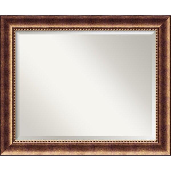 Bronze Wall Mirror darby home co bronze wood wall mirror & reviews | wayfair
