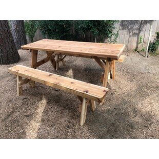 Islais Wooden Picnic Table by Millwood Pines No Copoun