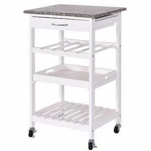 Georgii 4 Tier Kitchen Cart with Granite Top Winston Porter