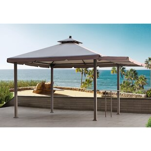 Sunjoy Double Roof 10 Ft. W x 10 Ft. D Metal Pop-Up Gazebo