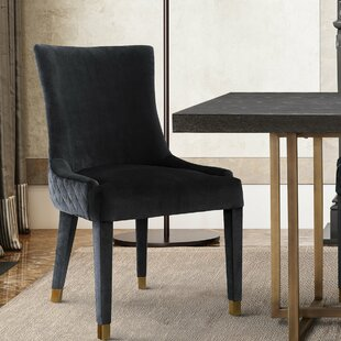 Diego Upholstered Dining Chair (Set of 2) Everly Quinn