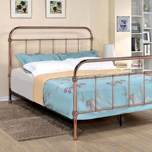 connorsa metal frame panel bed
