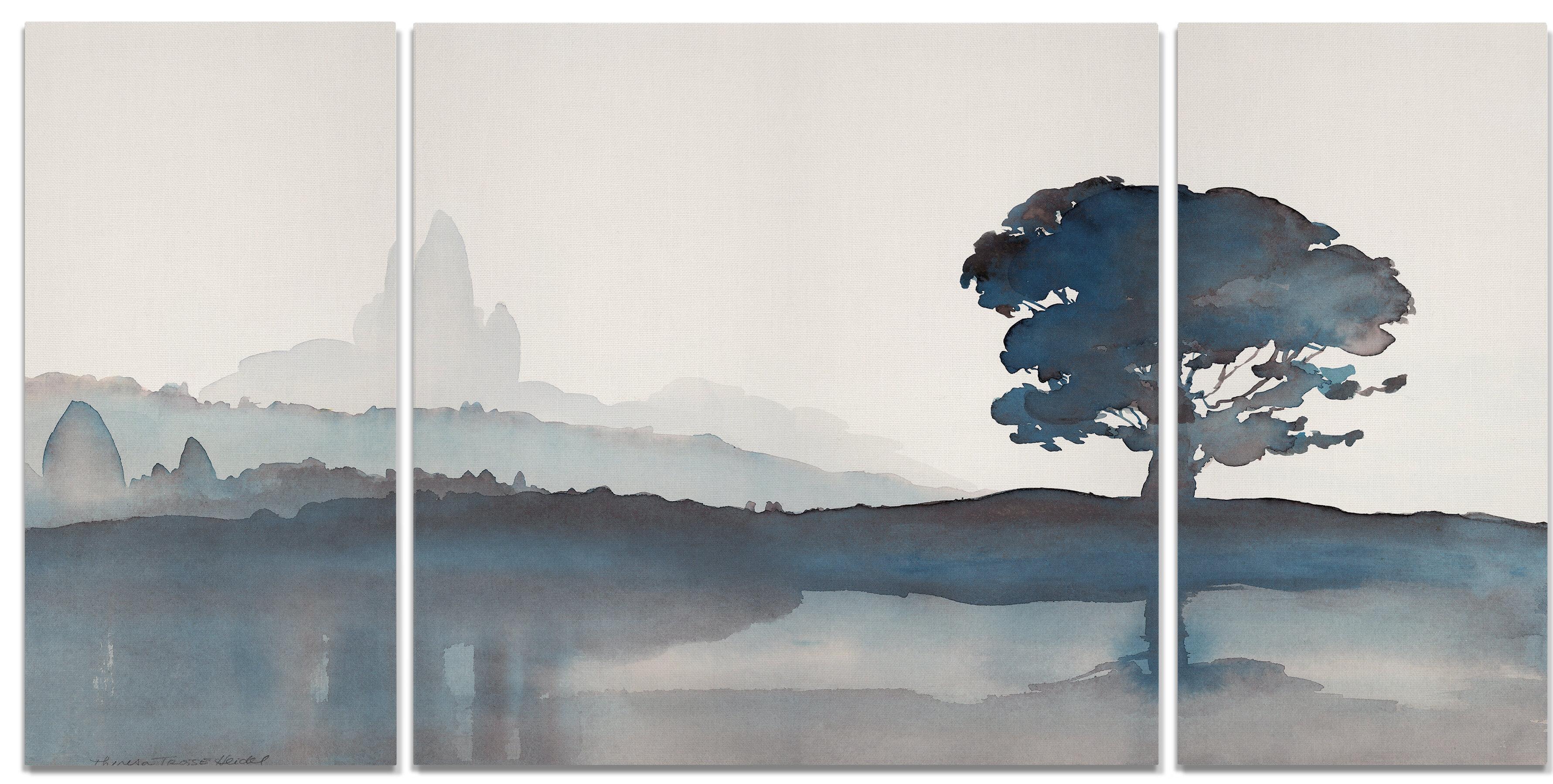 Winston Porter A Premium Serene Silhouette Ii Graphic Art Print Multi Piece Image On Wrapped Canvas Wayfair