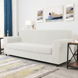 Dlerfeut 2-Piece Textured Grid Stretchy Removable Box Cushion Sofa Slipcover by Winston Porter