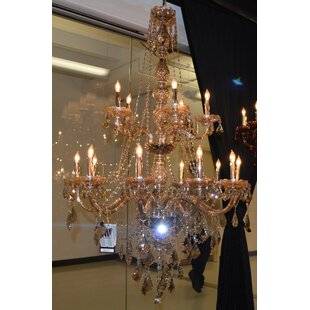 Astoria Grand Doggett Traditional 15-Light Candle Style Chandelier