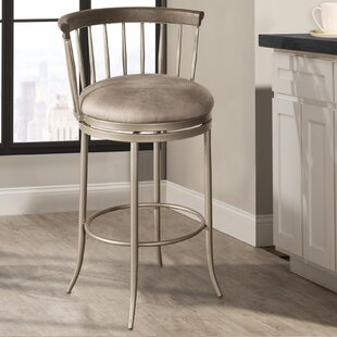 Thach 30'' Swivel Bar Stool Everly Quinn