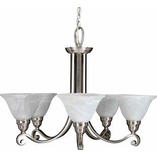 5-Light Shaded Chandelier by Volume Lighting
