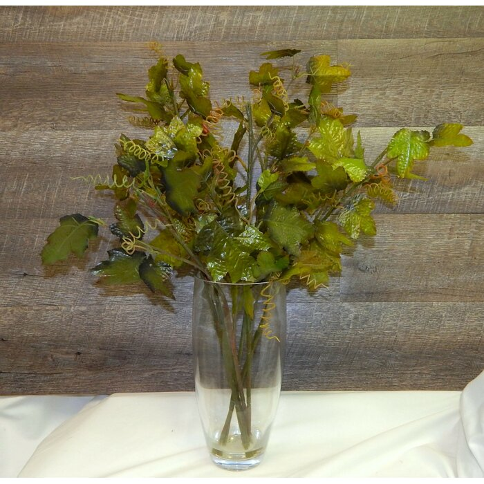 Fresh Cut Greenery Glass Mixed Floral Arrangement In Vase